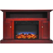 Alcott Hill Broncho LED Fireplace TV Stand; Cherry