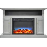 Alcott Hill Broncho LED Fireplace TV Stand; Gray