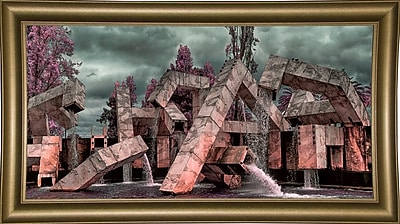 East Urban Home 'Vaillancourt Fountain' Photographic Print; Rolled Canvas