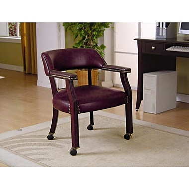 Wildon Home Dedham Home Office Guest Chair; Burgundy