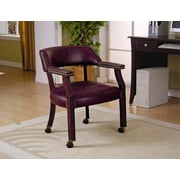 Wildon Home   Dedham Home Office Guest Chair; Burgundy
