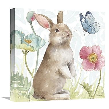 East Urban Home 'Spring Softies Bunnies II' Print on Canvas; 36'' H x 36'' W