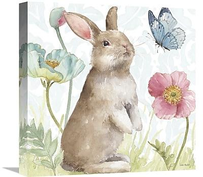 East Urban Home 'Spring Softies Bunnies II' Print on Canvas; 24'' H x 24'' W