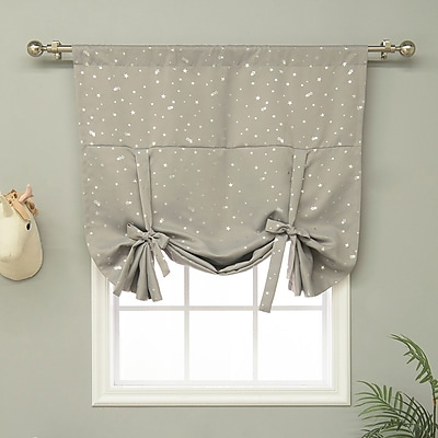 Harriet Bee Balch Geometric Blackout Thermal Rod Pocket Single Curtain Panel; Dove