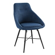 George Oliver Vanwyk Urban Upholstered Side Chair; Orange