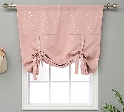 Harriet Bee Balch Geometric Blackout Thermal Rod Pocket Single Curtain Panel; Dusty Pink