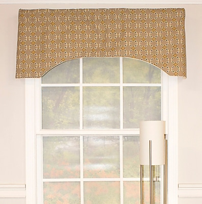 Darby Home Co Chittick Arch 51'' Window Valance; Stone