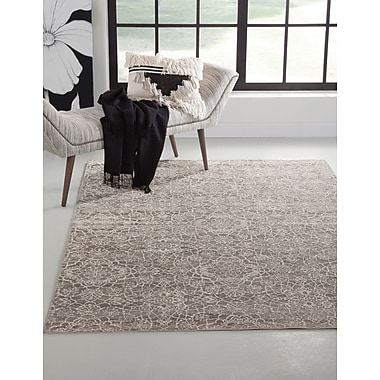 Darby Home Co Beecroft Gray/Ivory Indoor/Outdoor Area Rug; Rectangle 5' x 8'