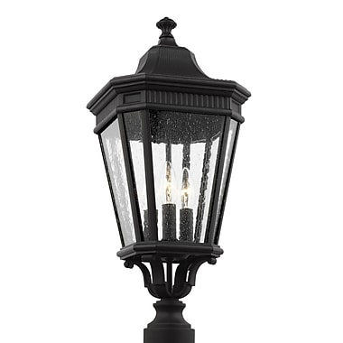 Darby Home Co Chilhowee Outdoor 3-Light Lantern Head; 22.5'' H x 9.5'' W x 9.5'' D