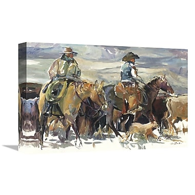 East Urban Home 'The Roundup' Print on Canvas; 16'' H x 24'' W