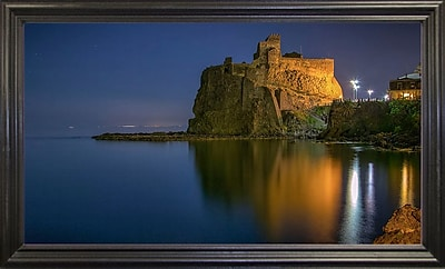 Ebern Designs 'Reflections' Photographic Print; Black Wood Grande Framed Paper