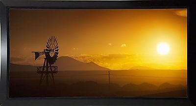 Ebern Designs 'Panorama Sunset No 2' Photographic Print; Black Plastic Framed Paper