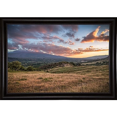 East Urban Home 'Mount Etna' Photographic Print; Bistro Expresso Framed Paper