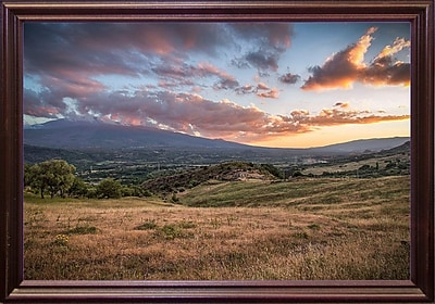 East Urban Home 'Mount Etna' Photographic Print; Cherry Wood Grande Framed Paper