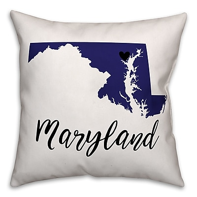 East Urban Home Maryland Pride Throw Pillow