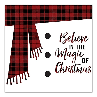 Varick Gallery 'Believe in the Magic of Christmas' Textual Art on Canvas