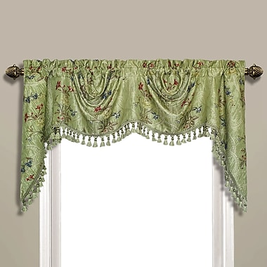 Astoria Grand Westberg Austrian Curtain Valance; Green
