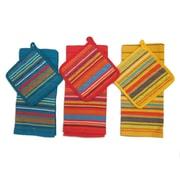 Latitude Run 12 Piece Striped Cotton Towel Set