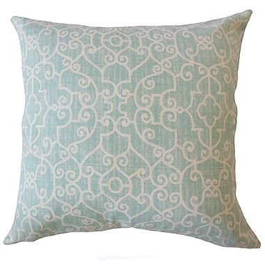 One Allium Way Donata Animal Print Down Filled 100pct Cotton Lumbar Pillow; Blue