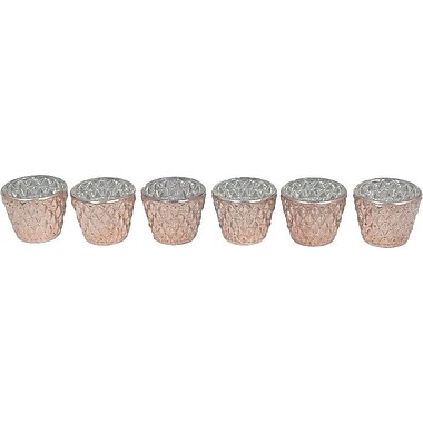 Mercer41 6 Pieces Glass Votive (Set of 6); Copper