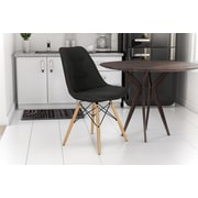 Novogratz Albany Side Dining Chair; Black