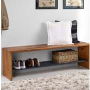 Loon Peak Arocho Rustic Solid Reclaimed Wood Storage Bench; Amber