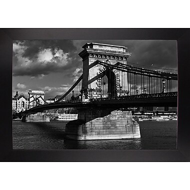 Williston Forge 'Budapest Chain Bridge Black and White' Photographic Print