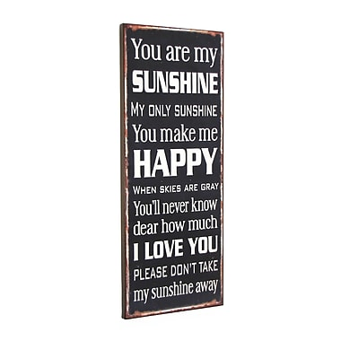 Williston Forge 'You Are My Sunshine' Textual Art Plaque