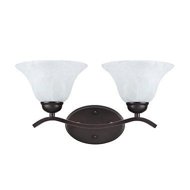 Winston Porter Lauterbach Metal 2-Light Vanity Light; Oil Rubbed Bronze