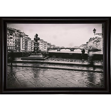 Winston Porter 'It's Raining' Photographic Print; Bistro Expresso Framed Paper