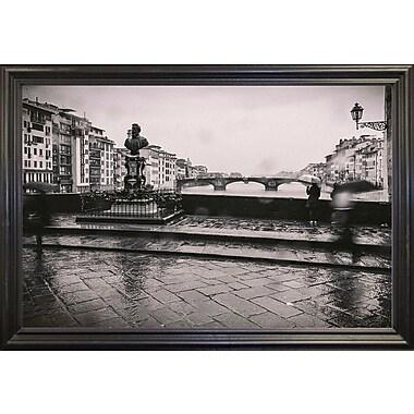 Winston Porter 'It's Raining' Photographic Print; Black Wood Grande Framed Paper