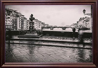 Winston Porter 'It's Raining' Photographic Print; Cherry Wood Grande Framed Paper