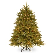 Gracie Oaks Feel Real Fraser 4.5' Fir Artificial Christmas Tree w/ 350 Clear Lights