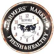 Gracie Oaks Nickola Farmers' Market Fresh and Healthy Metal 15.6'' Wall Clock