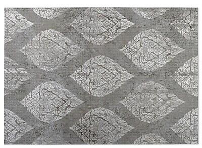 Bungalow Rose Elna Gray Indoor/Outdoor Doormat; 4' x 5'