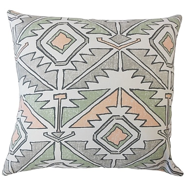 Bungalow Rose Bemiston Geometric Down Filled 100pct Cotton Lumbar Pillow; Sundown