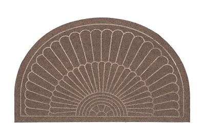 Alcott Hill Canaan Semi Circle Doormat; Coffee