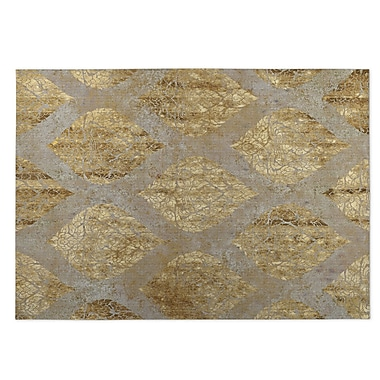 Bungalow Rose Elna Beige Indoor/Outdoor Doormat; 4' x 5'