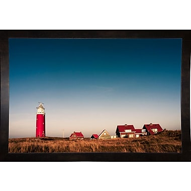Breakwater Bay 'Texel Lighthouse' Photographic Print; Black Wood Medium Framed Paper