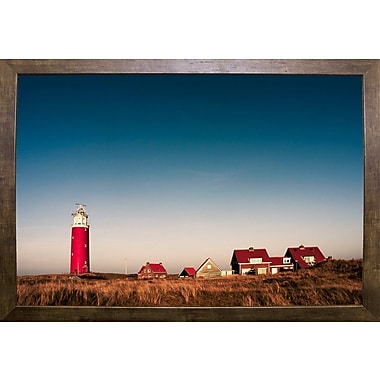 Breakwater Bay 'Texel Lighthouse' Photographic Print; Cafe Mocha Framed Paper