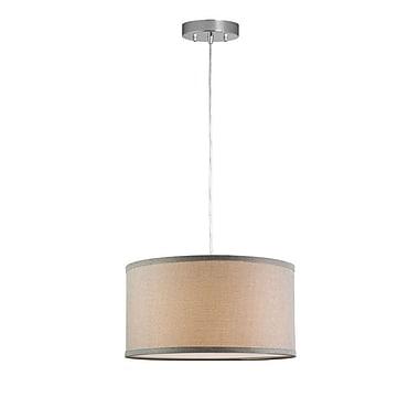 Orren Ellis Kluge 1-Light Drum Pendant; Natural Linen