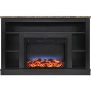 Charlton Home Eudora LED Electric Fireplace; Black Coffee