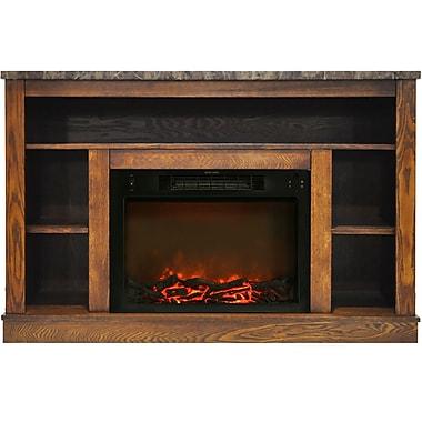 Charlton Home Eudora Electric Fireplace; Walnut