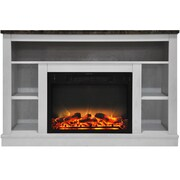 Charlton Home Eudora Modern Electric Fireplace; White