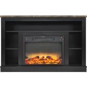 Charlton Home Eudora Modern Electric Fireplace; Black Coffee