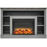 Charlton Home Eudora Modern Electric Fireplace; Gray