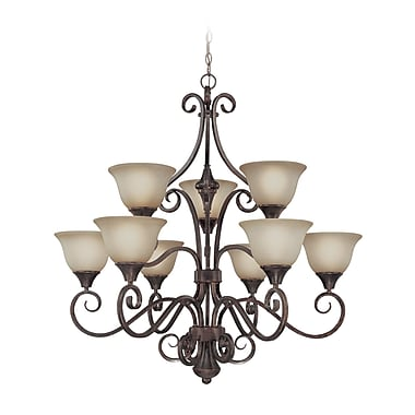 Fleur De Lis Living Wiliams 9-Light Shaded Chandelier