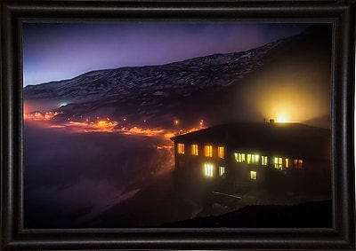 East Urban Home 'Under the Cloud' Photographic Print; Bistro Expresso Framed Paper