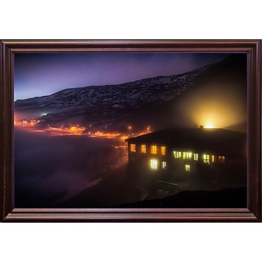 East Urban Home 'Under the Cloud' Photographic Print; Cherry Wood Grande Framed Paper