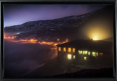 East Urban Home 'Under the Cloud' Photographic Print; Black Metal Framed Paper